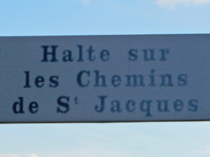 Saugues - sign