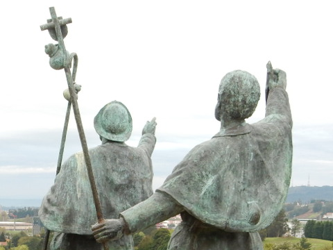 Pilgrims monte de gozo ultreia