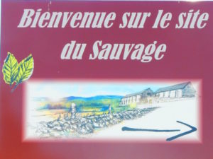 Le Puy route - sauvage - welcome sign