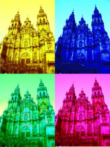 cathedral santiago pop art