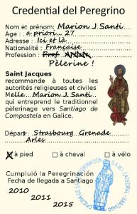 Crédentiale du pèlerin