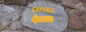 Flèche jaune camino