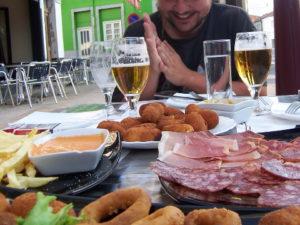 repas de fête simple et convivial