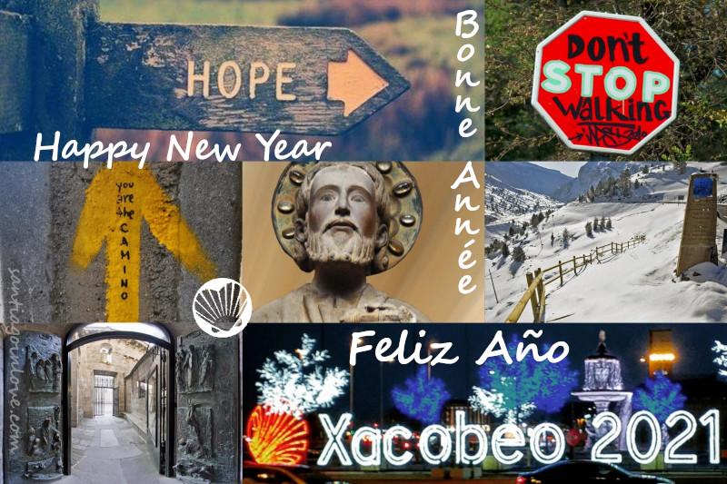 Bonne année 2021! Collage de Marion pour Santiago in Love, CC BY-NC-SA