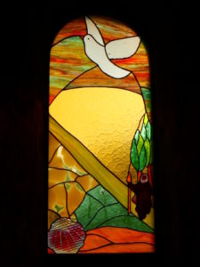 Rochegude - stained glass window chapel