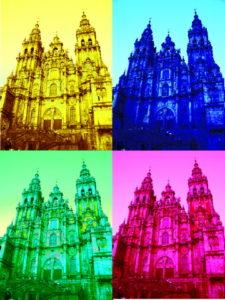 cathedral santiago pop art