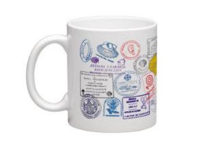 mug pilgrim passport stamps