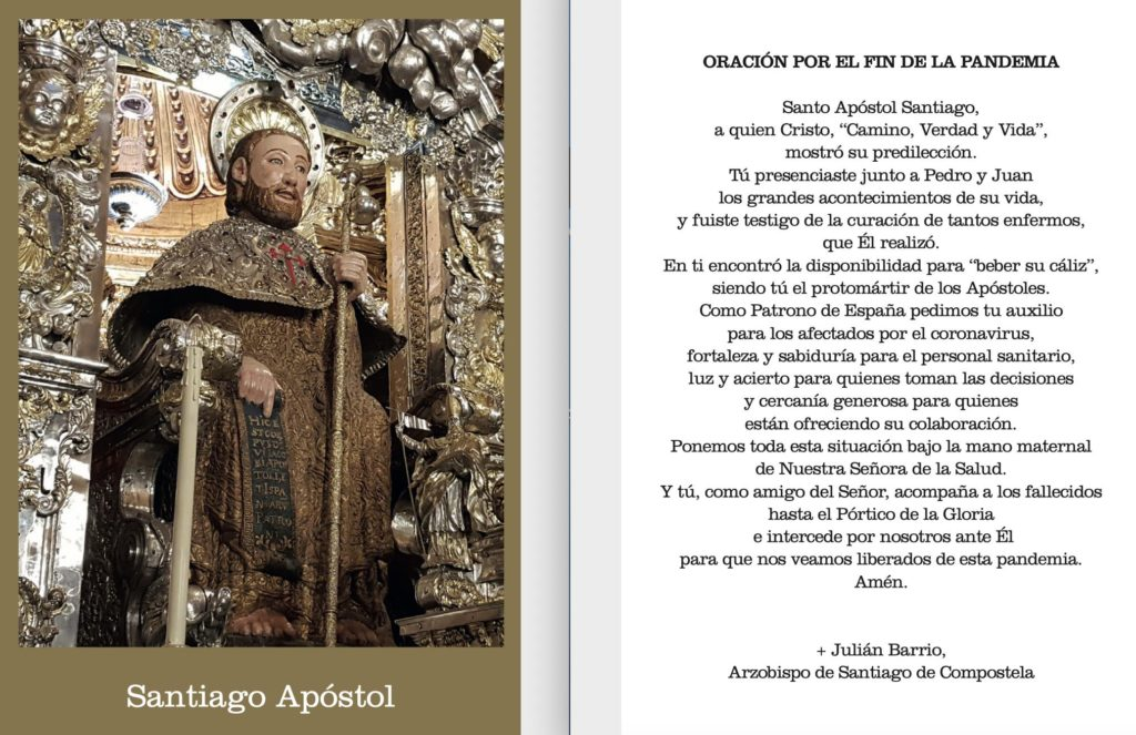 Prayer for the end of the pandemic - Mgr Barrio - Cathedral de Santiago