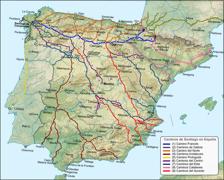THE Camino is actually MANY Caminos!