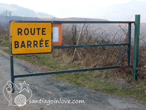 Route barree Saint jean pied de port roncevaux