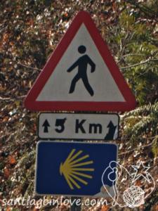Valcarlos Camino pilgrim sign