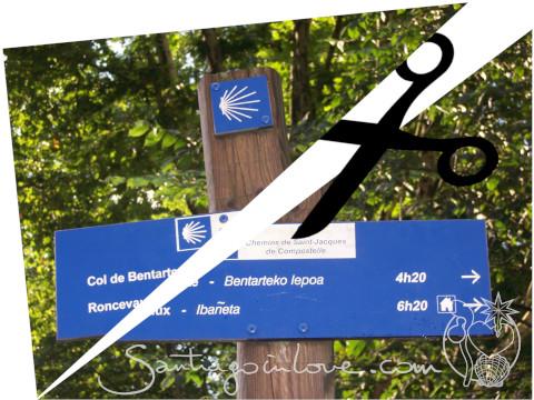 couper en deux l'étape Saint Jean Pied de Port Roncevaux - (CC) BY-NC-SA