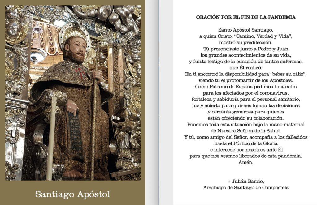 prière pour la fin de la pandémie - Mgr Barrio - Cathédrale de Compostelle