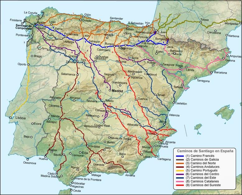 le chemin ou les chemins de compostelle - photo: Federacion espanola del Camino de Santiago